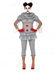 Psychopathische clown outfit voor dames
