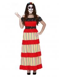 Gekleurd Mexicaans Dia de los Muertos kostuum voor vrouwen