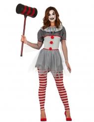 Psychopaat clown kostuum met legging voor dames