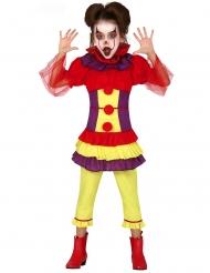 Veelkleurige evil clown outfit voor meisjes