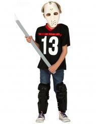 Moordenaar kostuum met hockeymasker voor jongens