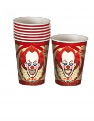 8 kartonnen killer clown bekers