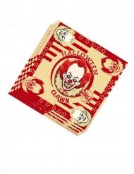 20 papieren killerclown servetten