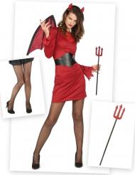 Chique duivel kostuum pack met accessoires voor vrouwen
