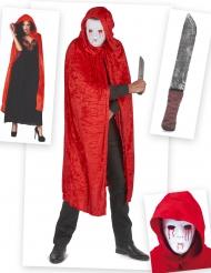 Bloederige moordenaar kostuum pack voor volwassenen