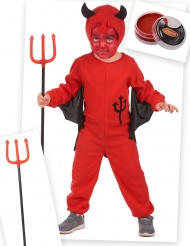 Kleine rode duivel kostuum pack voor kinderen