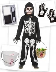 Skelet kostuum pack met accessoires voor jongens