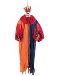 Veelkleurige angstaanjagende clown decoratie