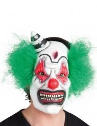 Latex clown masker met haren voor volwassenen