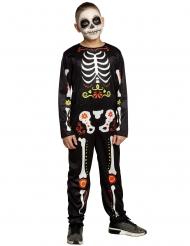 Dia de los Muertos skelet kostuum voor jongens