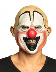 Latex killer clown masker voor volwassenen