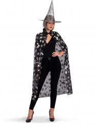 Zwarte en zilverkleurige heksen set voor vrouwen