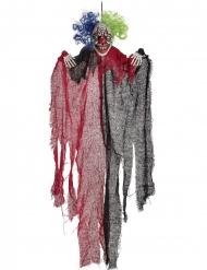 Rode en zwarte enge horror clown hangdecoratie