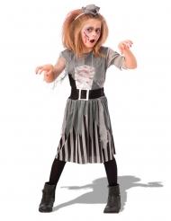 Grijs zombie piraat kostuum voor meisjes