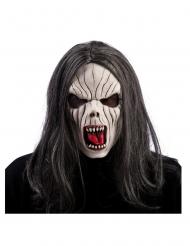 Latex vampier masker met haren voor volwassenen
