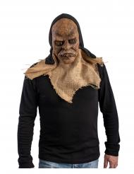 Latex monster masker met capuchon voor volwassenen