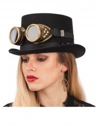 Grote steampunk bril voor volwassenen
