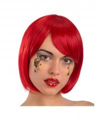Kleine zwarte spinnen gezicht tatoeages voor volwassenen