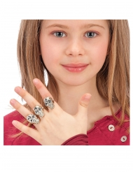 6 plastic doodskop ringen voor kinderen