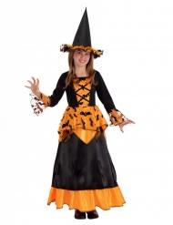 Vleermuis heks kostuum met hoed voor meisjes