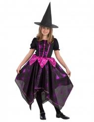 Zwart en fuchsia spinnen heks kostuum voor meisjes