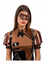 Bronskleurig steampunk masker voor volwassenen