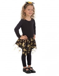 Zwarte en goudkleurige Halloween tutu voor meisjes