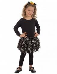 Zwarte en zilverkleurige Halloween tutu voor meisjes