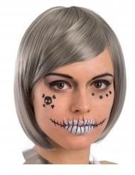 Skelet gezicht sticker decoraties voor volwassenen