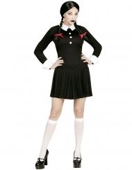 Zwart gothic schoolmeisje kostuum voor vrouwen