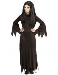 Zwarte gothic dame outfit voor kinderen