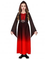 Rood en zwart vampier gravin kostuum voor kinderen