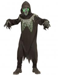 Zwart en groen reaper kostuum voor kinderen