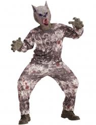 Grijs weerwolf kostuum met masker voor kinderen