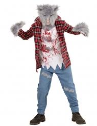 Harig weerwolf kostuum voor kinderen