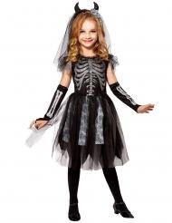 Duivel bruid skelet kostuum voor kinderen