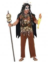 Bruine voodoo priester outfit voor volwassenen