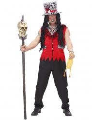 Rood voodoo priester kostuum voor mannen
