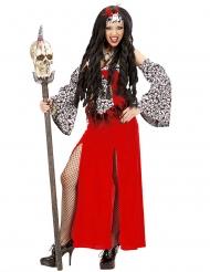 Rood voodoo priesteres kostuum voor vrouwen