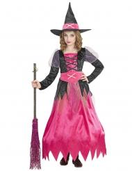 Roze prachtige heks kostuum voor kinderen