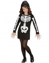 Glamour skelet kostuum voor meisjes