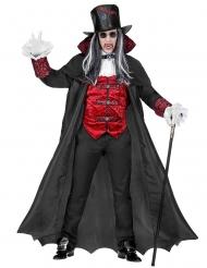 Vampier graaf kostuum met lange cape voor volwassenen