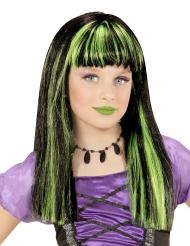Heksenpruik met groene lokken voor meisjes