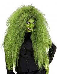 Grote groene heks pruik voor vrouwen