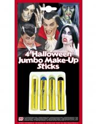 Set van 4 Halloween schminktpotloden
