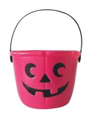 Roze Halloween snoepemmer 17 cm