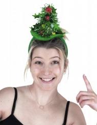 Groene kerstboom haarband voor volwassenen