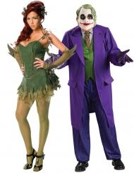 Poison Ivy™ en Joker™ koppelkostuum voor volwassenen