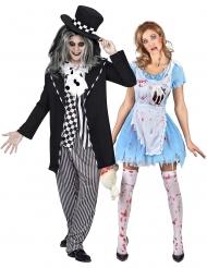 Gothic gekke hoedenmaker en Alice koppelkostuum