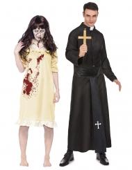 Exorcisme koppelkostuum voor volwassenen